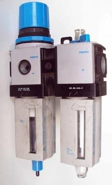 Conjunto lubrifil (modelo: LFR-M2-G1/2-E10R (filtro regulador) + LOE-M2-G1/2-P (lubrificador))