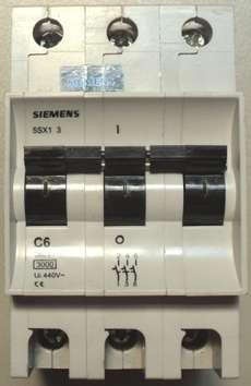 Disjuntor (modelo: 5SC13C6)