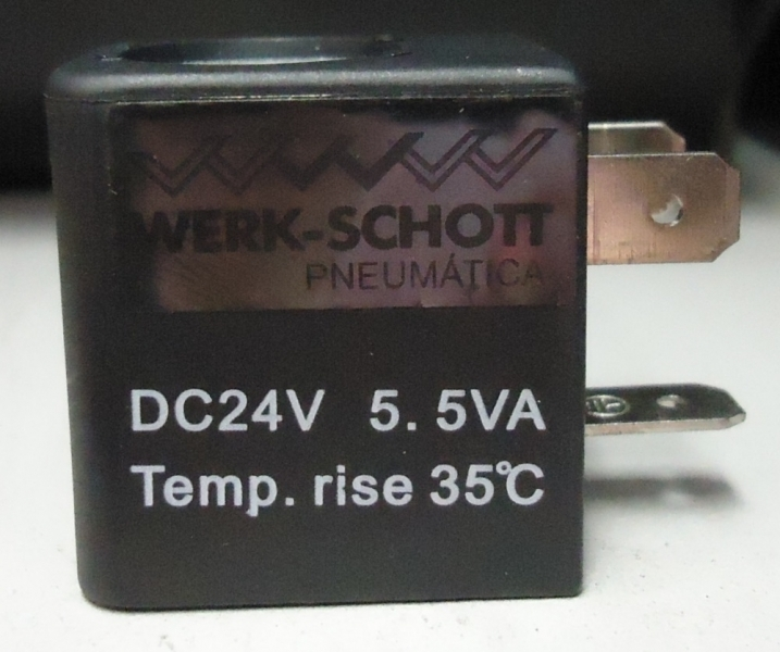 marca: WERK SCHOTT <br/>modelo: DC24V 5.5VA <br/>estado: nova