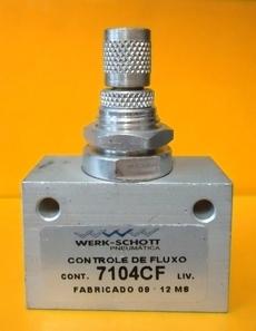 Regulador de fluxo (modelo: 3/8X3/8 7104CF)