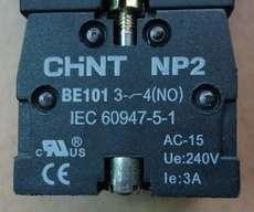 Bloco p/ botão (modelo: NP2BE10134NO)