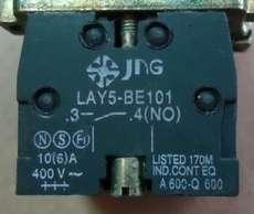 Bloco p/ botão (modelo: LAY5BE10134NO)