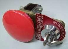 Botão cogumelo (modelo: com chave)