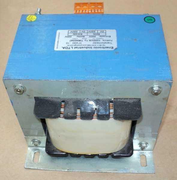 marca: Enertronic Industrial <br/>modelo: TIMA0347 <br/>potencia: 1000VA <br/>fase: 1 <br/>60Hz, 0,6kV <br/>entrada: 220V <br/>saída: 220V <br/>estado: nunca foi utilizado