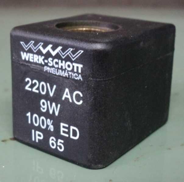 marca: Werk-Schott <br/>modelo: BG22013A 220VAC 9W 100% ED IP65 <br/>estado: nova