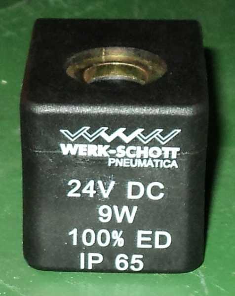marca: Werk Schott <br/>modelo: 24VDC 9W 100% ED IP65 <br/>estado: nova